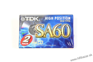 TDK SA-60 Position Chrome 2PACK